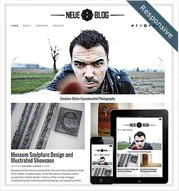 premium wordpress templates - neue-blog-theme