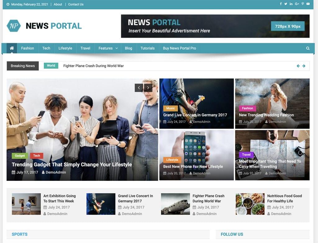 News Portal free theme