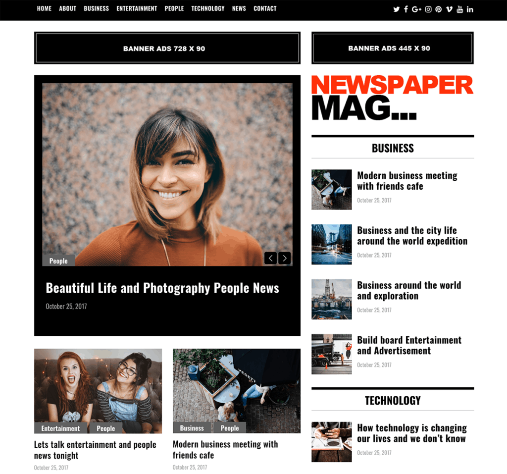 newspaper mag theme