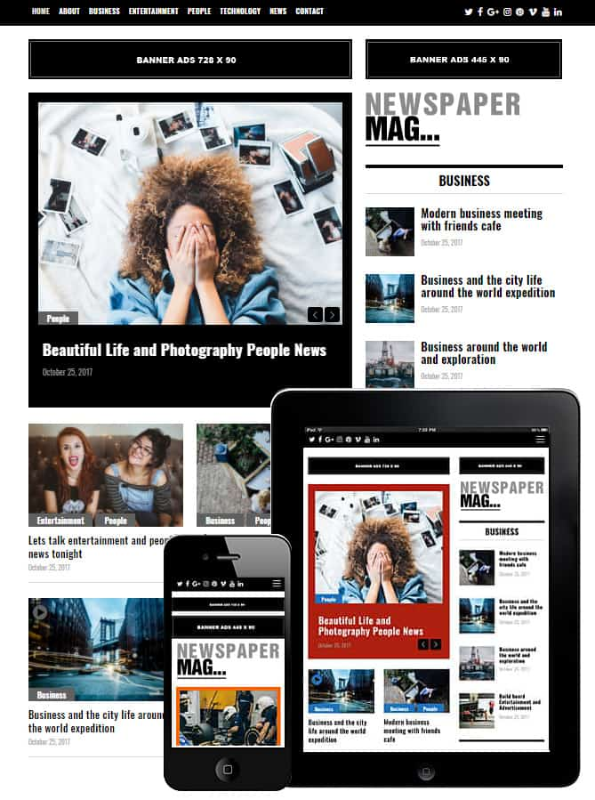Newspaper Mag WordPress Theme - Best WordPress Themes for Creatives ...