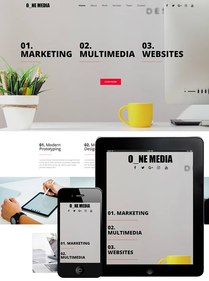 One media elementor template