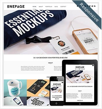 premium wordpress templates - onepage-theme