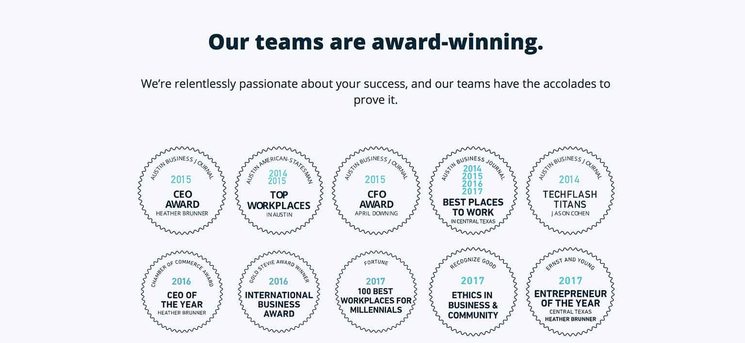 wpengine teams awards winning