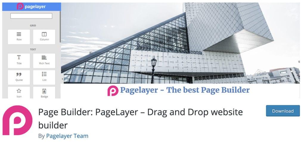 Page Builder: PageLayer - Générateur de site Web par glisser-déposer