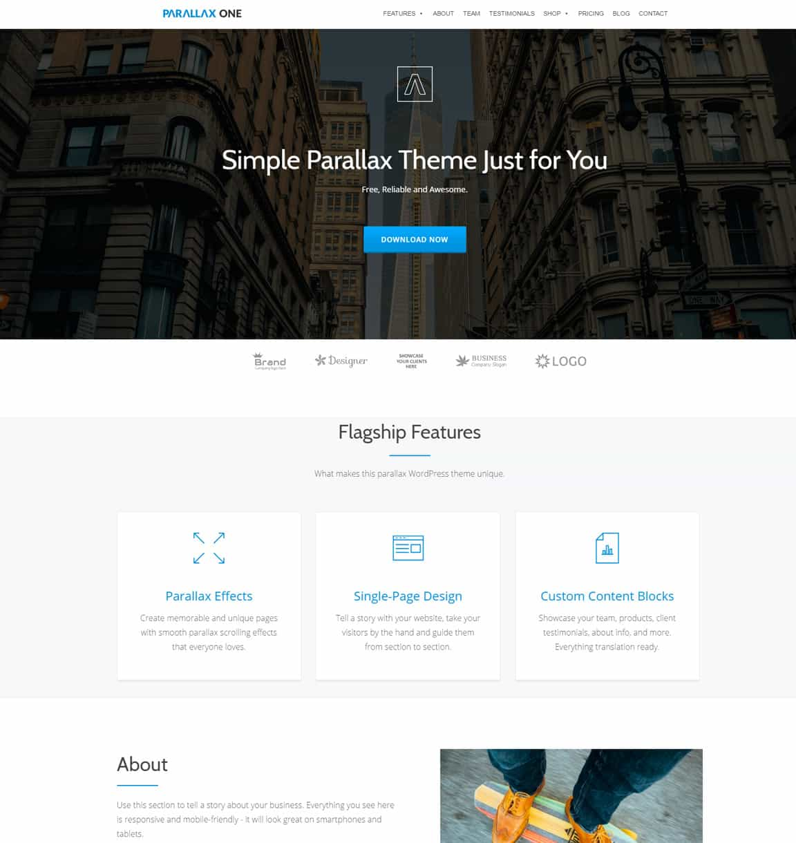 20 Best Parallax Scrolling Wordpress Themes 2018 Dessign Themes
