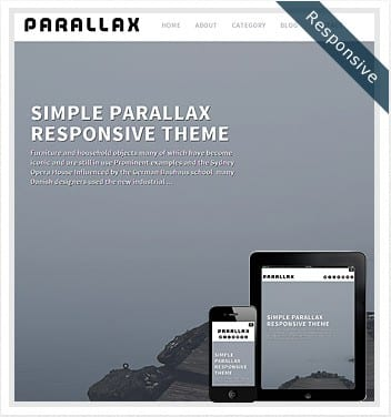 premium wordpress templates - parallax-theme-responsive