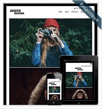 premium wordpress templates - photo-border-theme