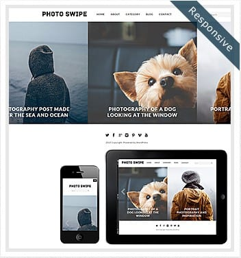 premium wordpress templates - photo-swipe-theme