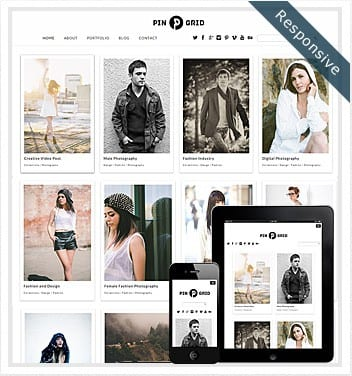 premium wordpress templates - pin-grid-theme