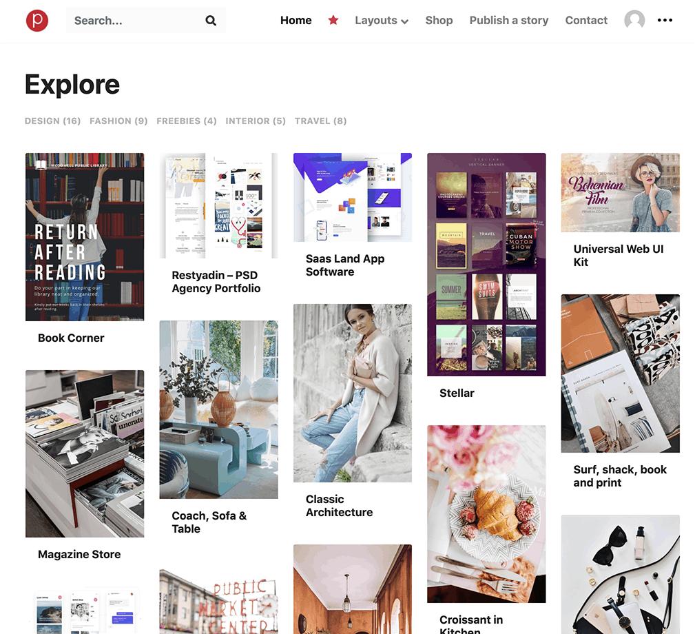 30+ Best Free Grid, Masonry & Pinterest Style Themes