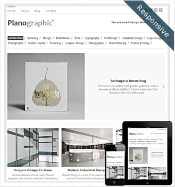premium wordpress templates - planographic-theme
