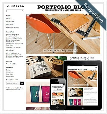 Free Portfolio Blog Theme WordPress