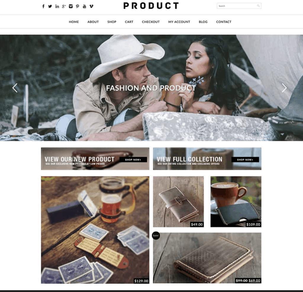 woocommerce product theme