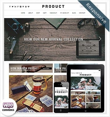 premium wordpress templates - product-woocommerce-theme