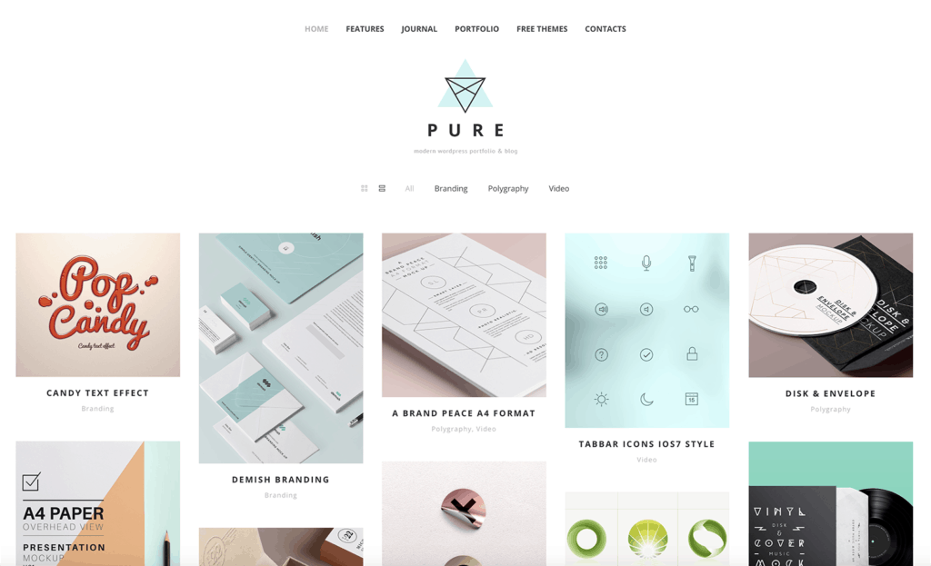 best free wordpress theme for graphic design portfolio