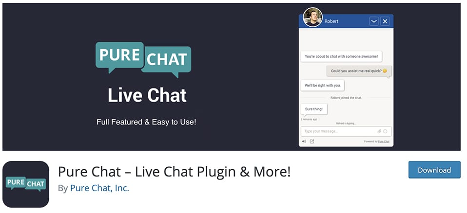 Pure Chat – Live Chat Plugin & More!
