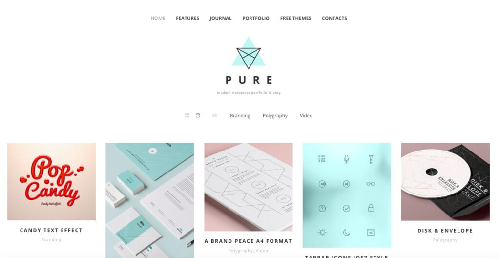 pure free modern simple theme