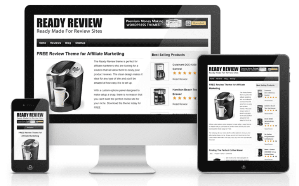 Free Review Theme for Affiliate Marketers