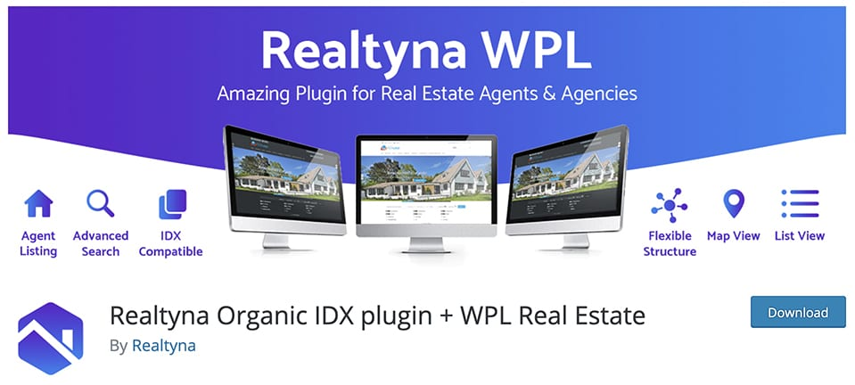 Realtyna Organic IDX plugin + WPL Real Estate