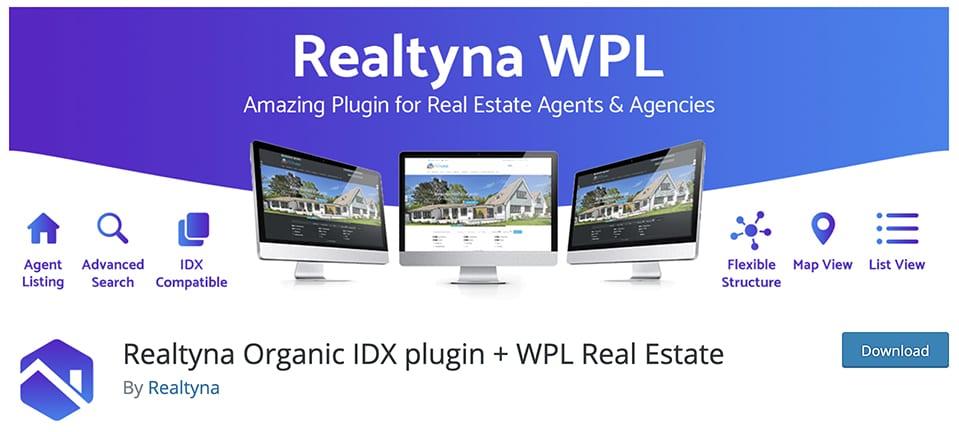 Realtyna Organic IDX plugin + WPL Real Estate