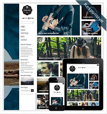 premium wordpress templates - right-folio-theme