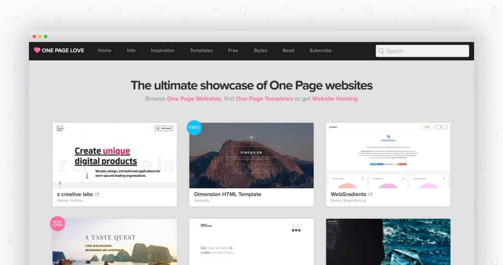 Keeping things simple by choosing a One Page website