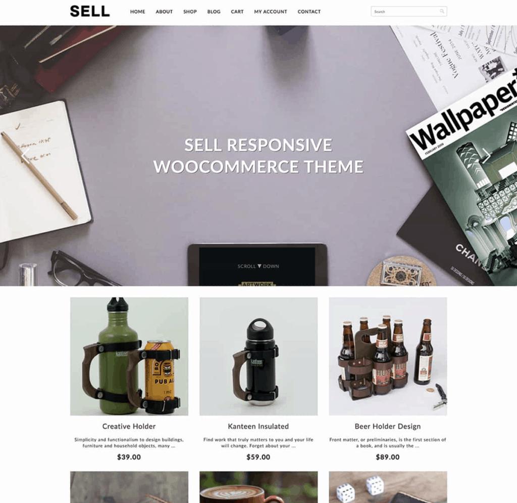 sell woocommerce theme