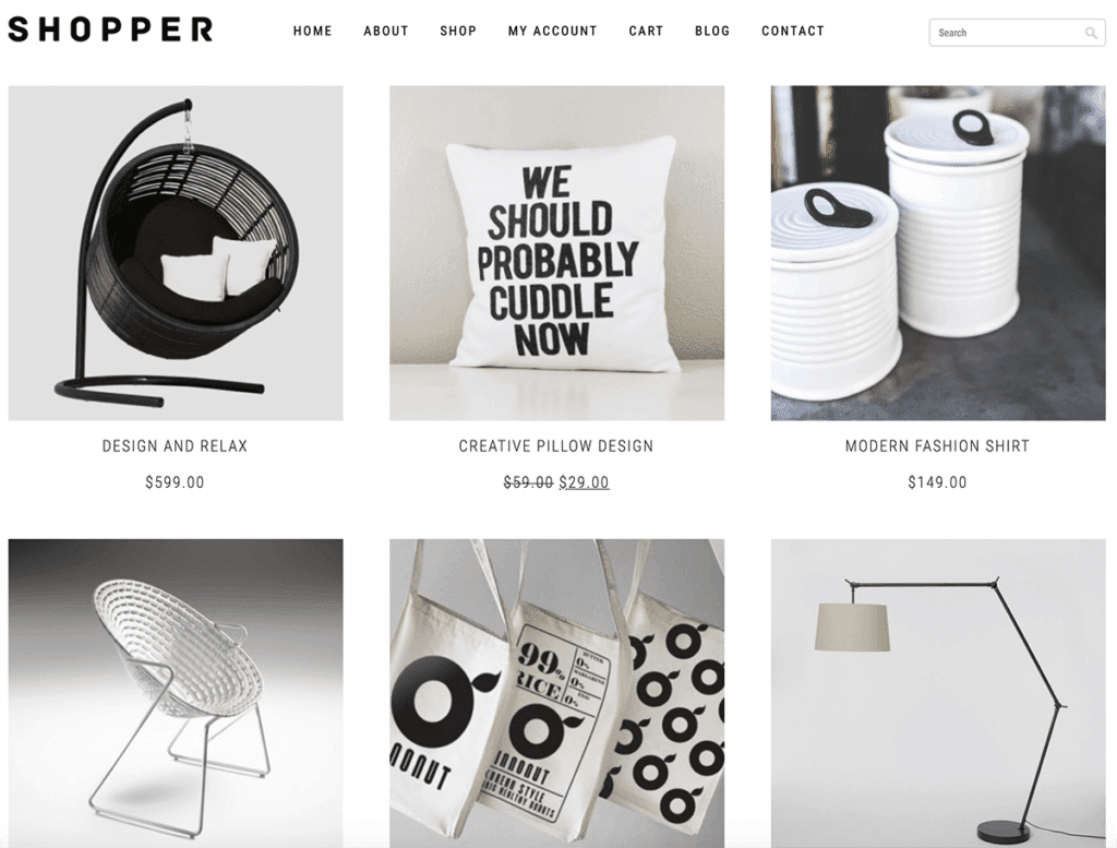shopper woocommerce theme
