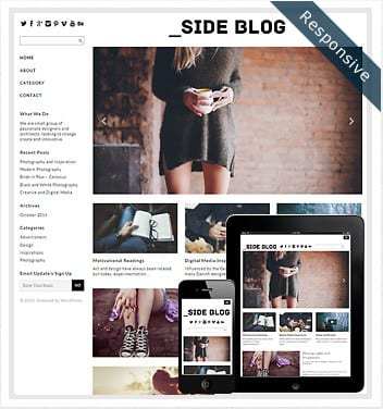 premium wordpress templates - side-blog-theme