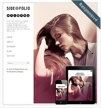 premium wordpress templates - side-folio-theme