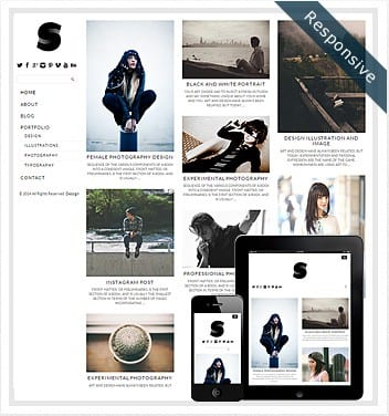 premium wordpress templates - side-grid-theme