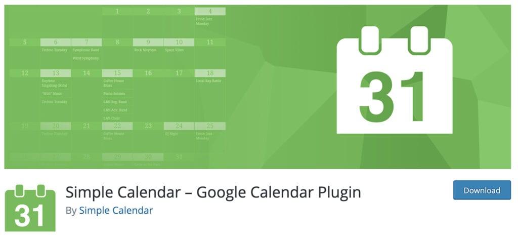 Simple Calendar – Google Calendar Plugin