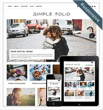premium wordpress templates - simple-folio-theme