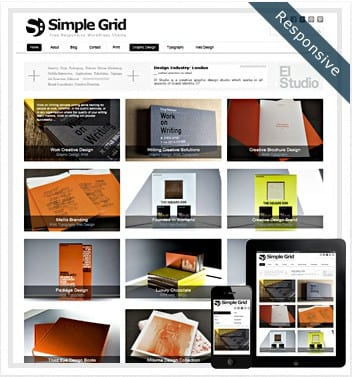 premium wordpress templates - simple-grid-theme
