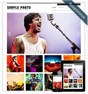 premium wordpress templates - simple-photo-wordpress