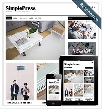 premium wordpress templates - simple-press-theme
