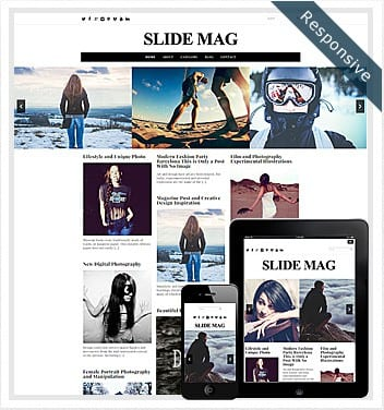 premium wordpress templates - slide-mag-theme