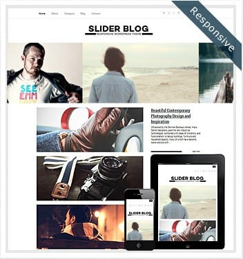 premium wordpress templates - slider-blog-theme