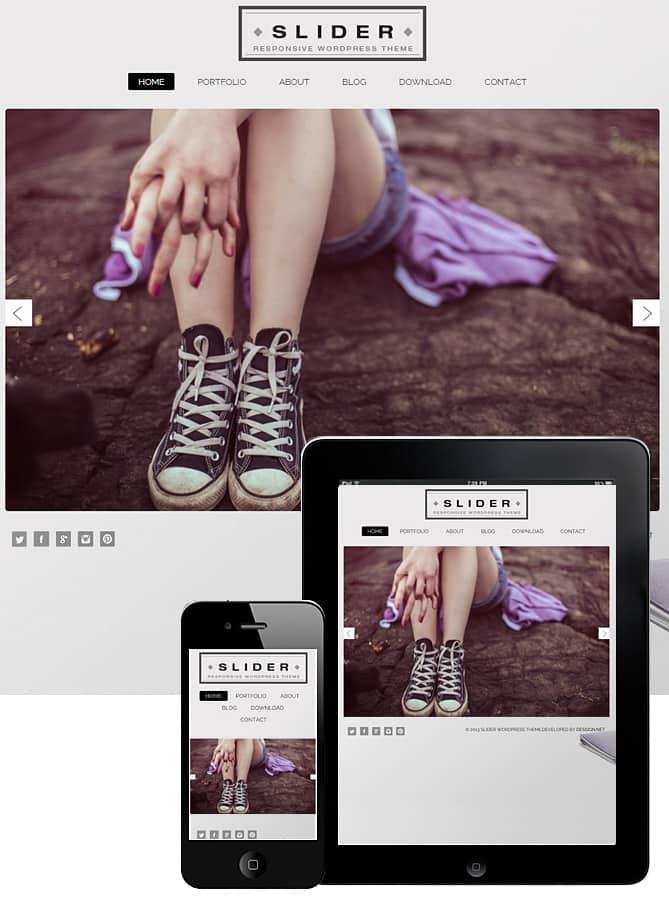 Free Slider WordPress Theme 2018 - Dessign Themes