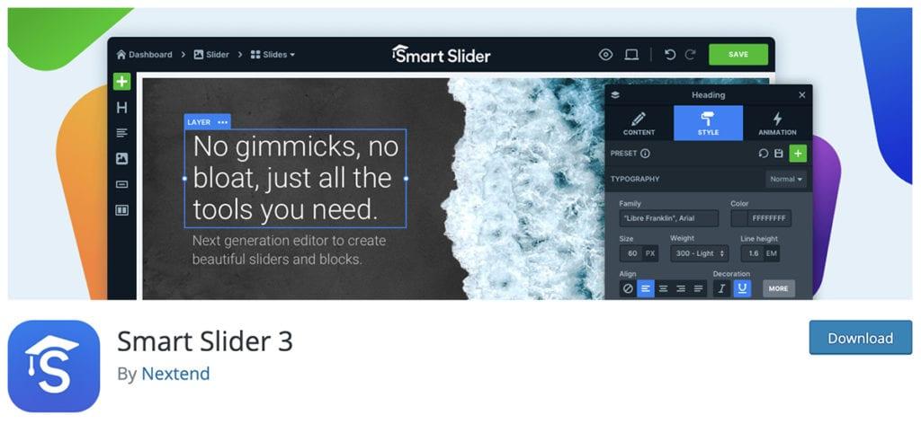smart slider 3 free slider for wordpress