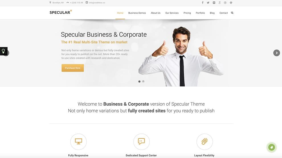 specular business slider