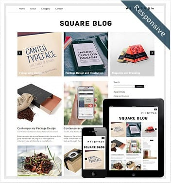 premium wordpress templates - square-blog-theme