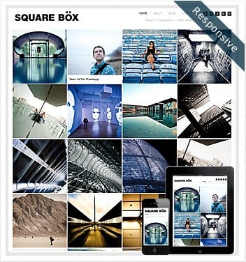 premium wordpress templates - squarebox-responsive-theme