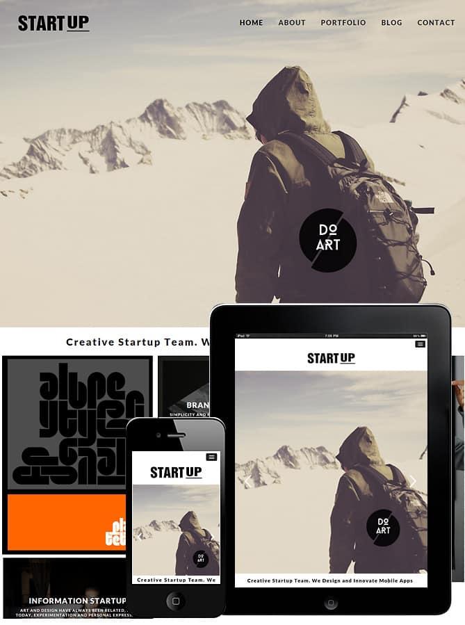 startup theme