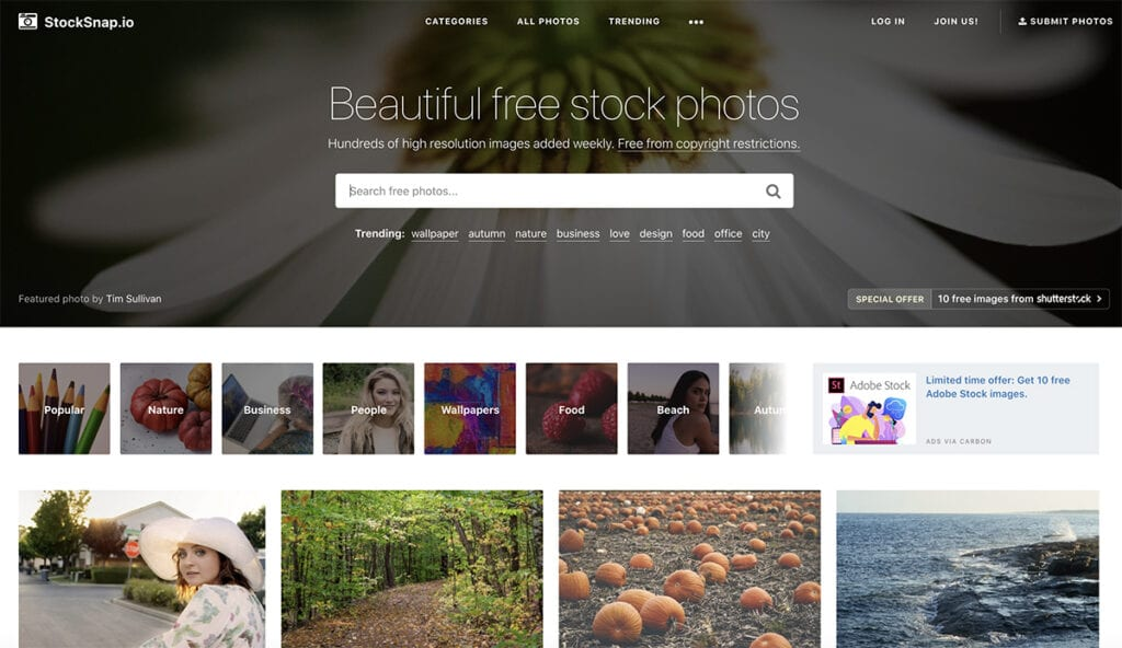 StackSnap free site photo
