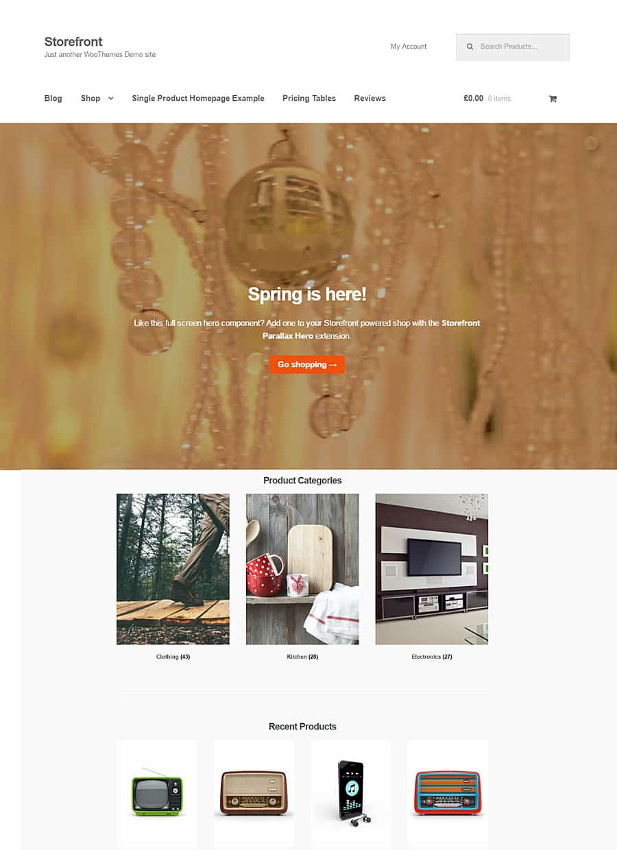 storefront modern woocommerce themes