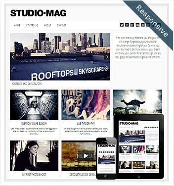 premium wordpress templates - studio-mag-responsive