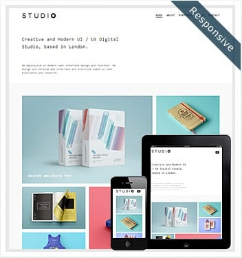 premium wordpress templates - studio-theme-wordpress