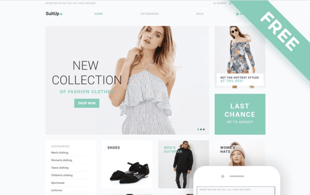 suitup Shopify theme free