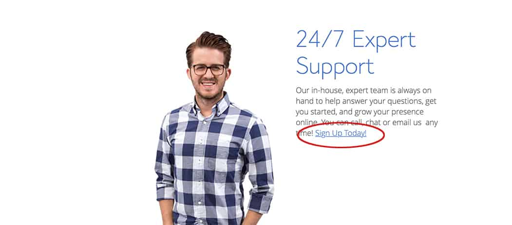 bluehost 24/7 expert support